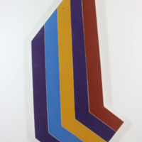 Untitled (bright striped arrow shaped stretcher)