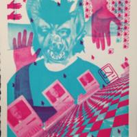 Brandon Langer, Teenage Werewolf, Serigraphy, 11x14_.jpg